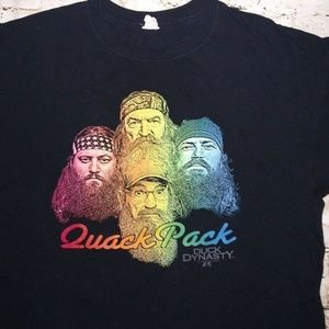 Duck Dynasty men's L t-shirt Quack Pack black